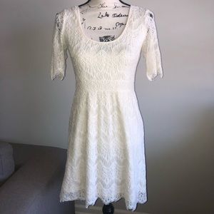 Pins & Needles Off White Lace Dress